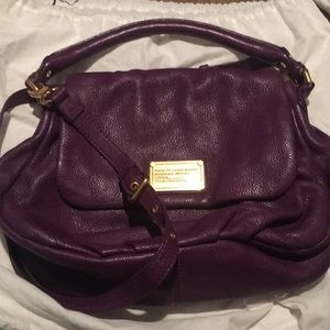 Marc by Marc Jacobs purple crossbody bag gold
